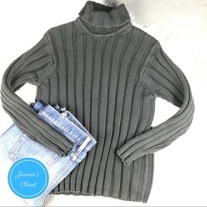 GAP 100% Cotton Ribbed Turtleneck Sweater M